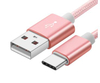 Mobile Phone Fast Charging Data Transferring Usb Type C Cable Nylon Braided Data Cable for Samsung Galaxy S8