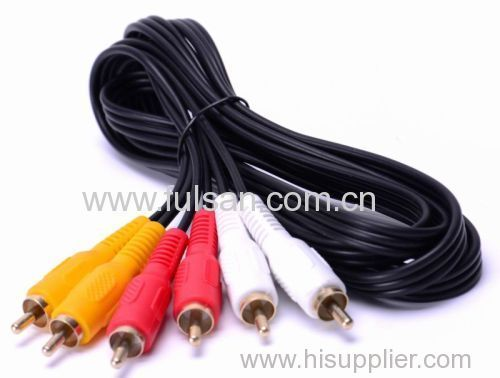 Composite 3 RCA Cable Cord for DVD VCR 1.8m 6ft