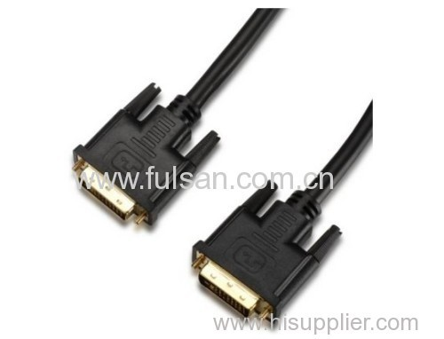 DVI (24+1) Male to Male Cable with RoHS Compliant