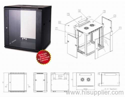 wall telecomunication/Wall mounted network cabinet
