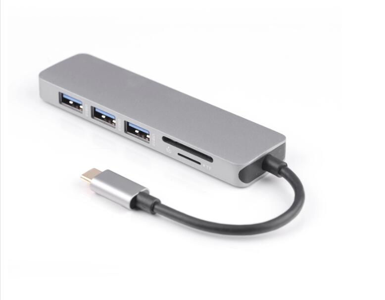 New Arrival 5 in 1 USB C HUB Adapter USB HUB 3.0 for Laptop