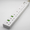 250v 4 Way Universal Power Strip with Individual Switches for Furniture