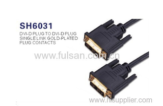 High speed DVI-D dual link DVI cable male to male