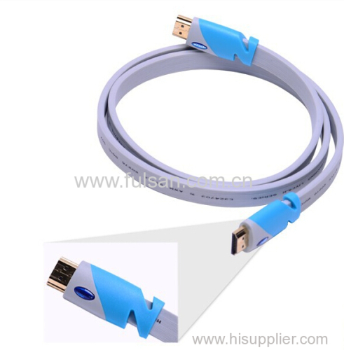High speed 3d hdmi flat cable 1.4 support 2160p 2m
