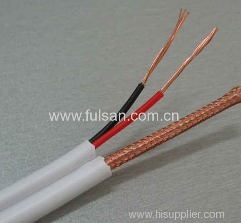 1000ft High Quality Siamese RG59 Coaxial Cable 2DC for CCTV