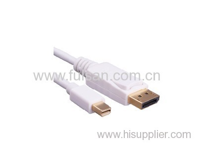 Gold Plated Mini DisplayPort to DisplayPort Cable in Black 10 Feet