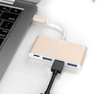 4 In1 Gold Type-c Hub To USB3.0 Port Adapter & PD Fast Charging Usb C Converter Silver Metal USB3.0 Hub