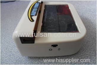 0.3w black color portable solar power auto exhauster