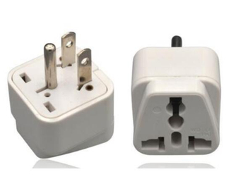 White Travel Charger Electrical Power US to UK/Au/EU/Brazil/Italy/South Africa Plug Adapter