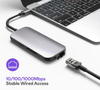 USB 3.1 Adapter Hub to Card Reader Type c Hub for Macbook Pro Type-c Docking Station