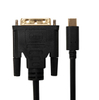 USB Type C male to DVI Male 1080p cable black
