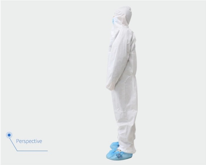 Personal Ppe Suit Type 5 And 6 Coverall Disposable Full Suite Micropore Polyethylene Safety Protective Clothing