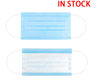 Anti-Spitting Non-Woven 3Ply Breathable Comfortable Safety Protection Blue Disposable Face Mask with Earloop for Personal Health